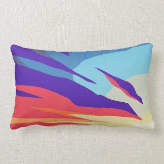 Abstract Sunset Lumbar Pillow