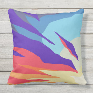 Abstract Sunset Outdoor Pillow