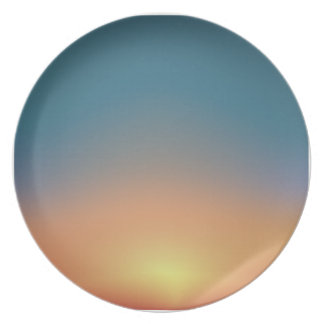 Abstract Sunset Plate