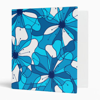 Abstract surf hibiscus 3 ring binders
