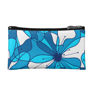Abstract surf hibiscus cosmetic bag