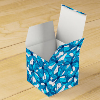 Abstract surf hibiscus favor box