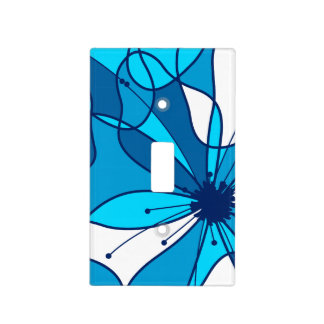 Abstract surf hibiscus light switch cover