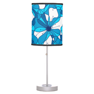Abstract surf hibiscus table lamp