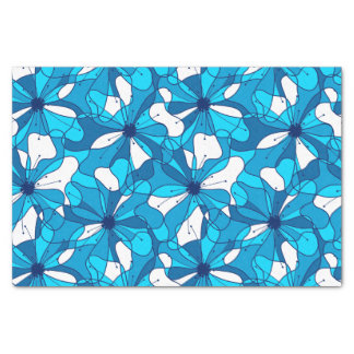 Abstract surf hibiscus tissue paper