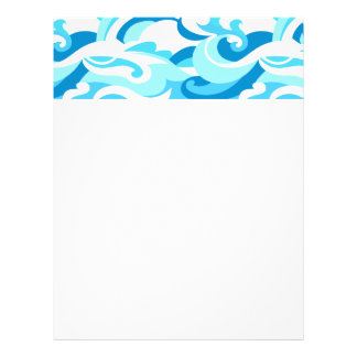 Abstract surf waves flyer