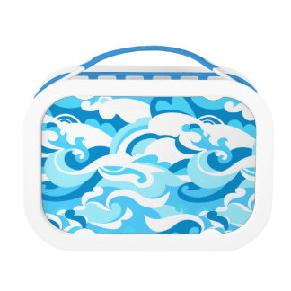 Abstract surf waves lunch box