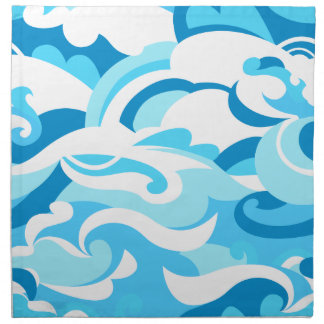 Abstract surf waves napkin