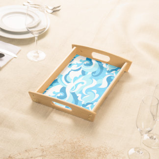 Abstract surf waves serving tray