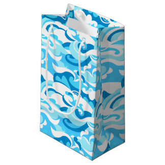 Abstract surf waves small gift bag