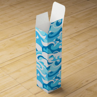 Abstract surf waves wine gift box