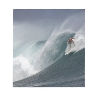 Abstract surfing sea wave notepad