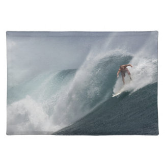Abstract surfing sea wave placemat