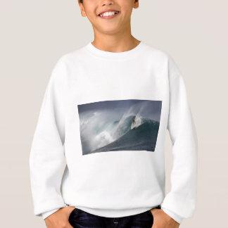 Abstract surfing sea wave sweatshirt