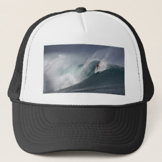 Abstract surfing sea wave trucker hat