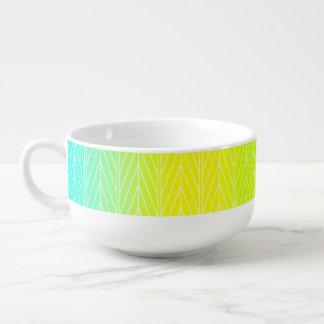 Abstract Swamp Plant Leaves Design Soup Mug