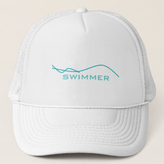 Abstract Swimmer Trucker Hat