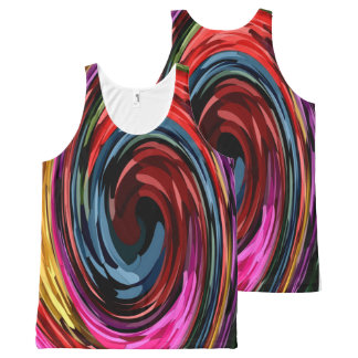 abstract swirl All-Over-Print tank top