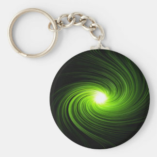 Abstract swirl. basic round button keychain
