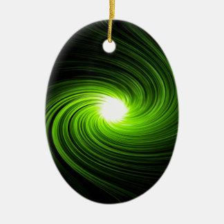 Abstract swirl. ceramic ornament