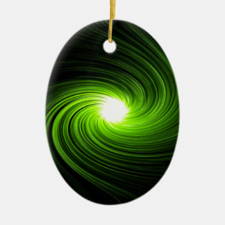 Abstract swirl. ceramic oval ornament