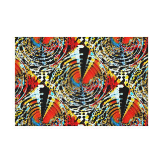 Abstract Swirl Disorder Canvas Print