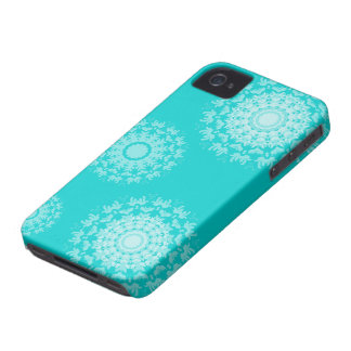 Abstract swirl floral pattern iphone 4 cases
