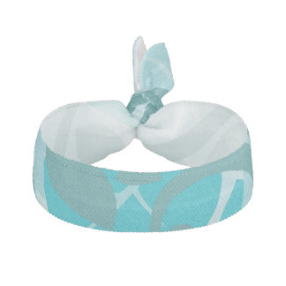 Abstract Swirl Floral Turquoise Hair Tie