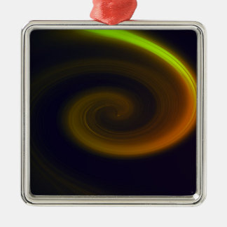 Abstract swirl. Silver-Colored square ornament