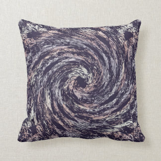 Abstract swirl texture throw pillow