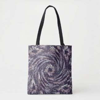 Abstract swirl texture tote bag