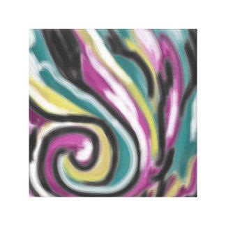 'Abstract Swirls' 11x11 Premium Canvas (Gloss)