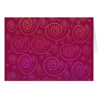 Abstract Swirls Card
