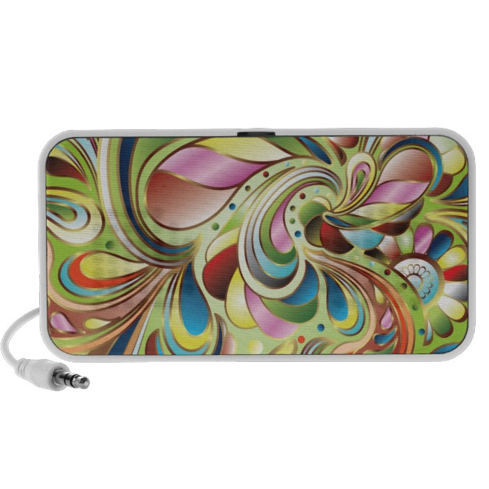 Abstract Swirls Doodle Speaker