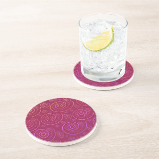 Abstract Swirls Drink Coasters