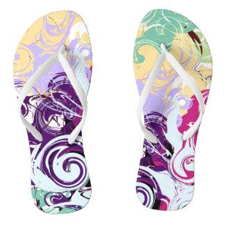 Abstract Swirls Flip Flops
