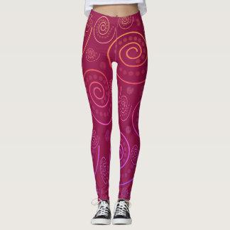 Abstract Swirls Leggings