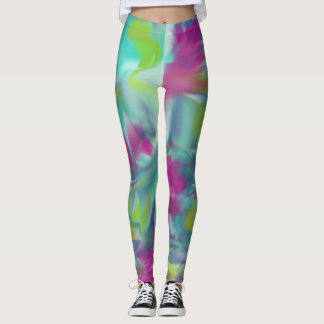 Abstract swirls of colour Leggings