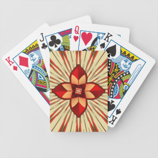 Abstract symbolism bicycle playing cards