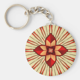 Abstract symbolism keychain