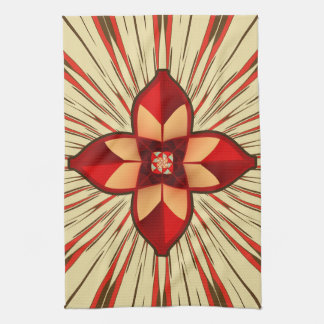 Abstract symbolism towels