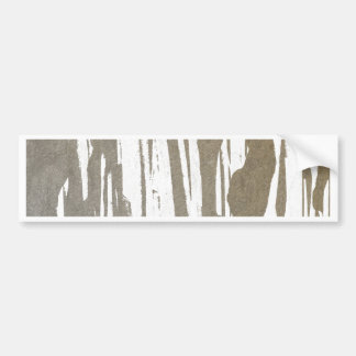 Abstract Taupe Splash Design Bumper Sticker