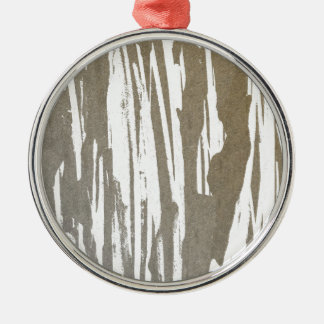 Abstract Taupe Splash Design Metal Ornament