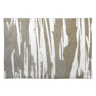 Abstract Taupe Splash Design Placemat