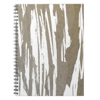 Abstract Taupe Splash Design Spiral Notebook