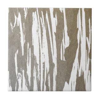 Abstract Taupe Splash Design Tile