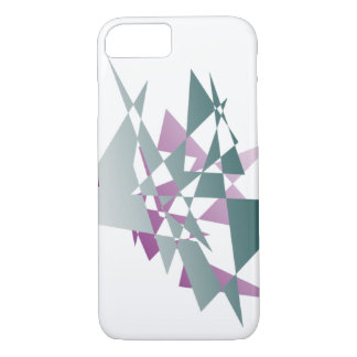 Abstract teal and purple triangles iPhone 7 case