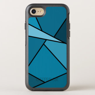 Abstract Teal Geometric Shapes OtterBox Symmetry iPhone 7 Case