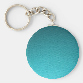 Abstract Teal Gradient Pattern Keychain