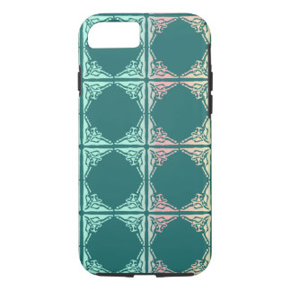 Abstract teal tile texture iPhone 8/7 case